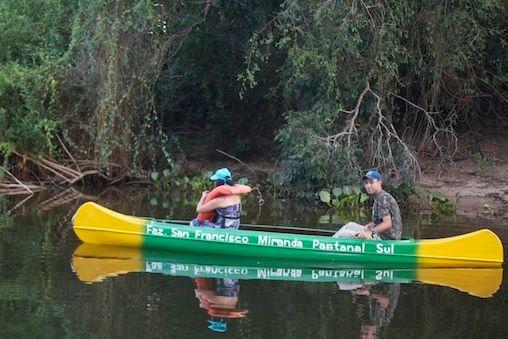 Canoagem-Faz San Francisco pousada e passeios pantanal