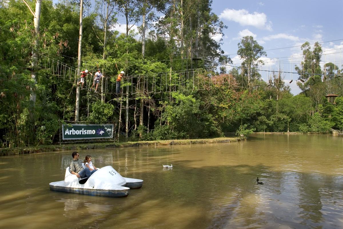 São 21 lagos, sendo 1 para diversão, 4 para pescas e 17 para criação de peixes.