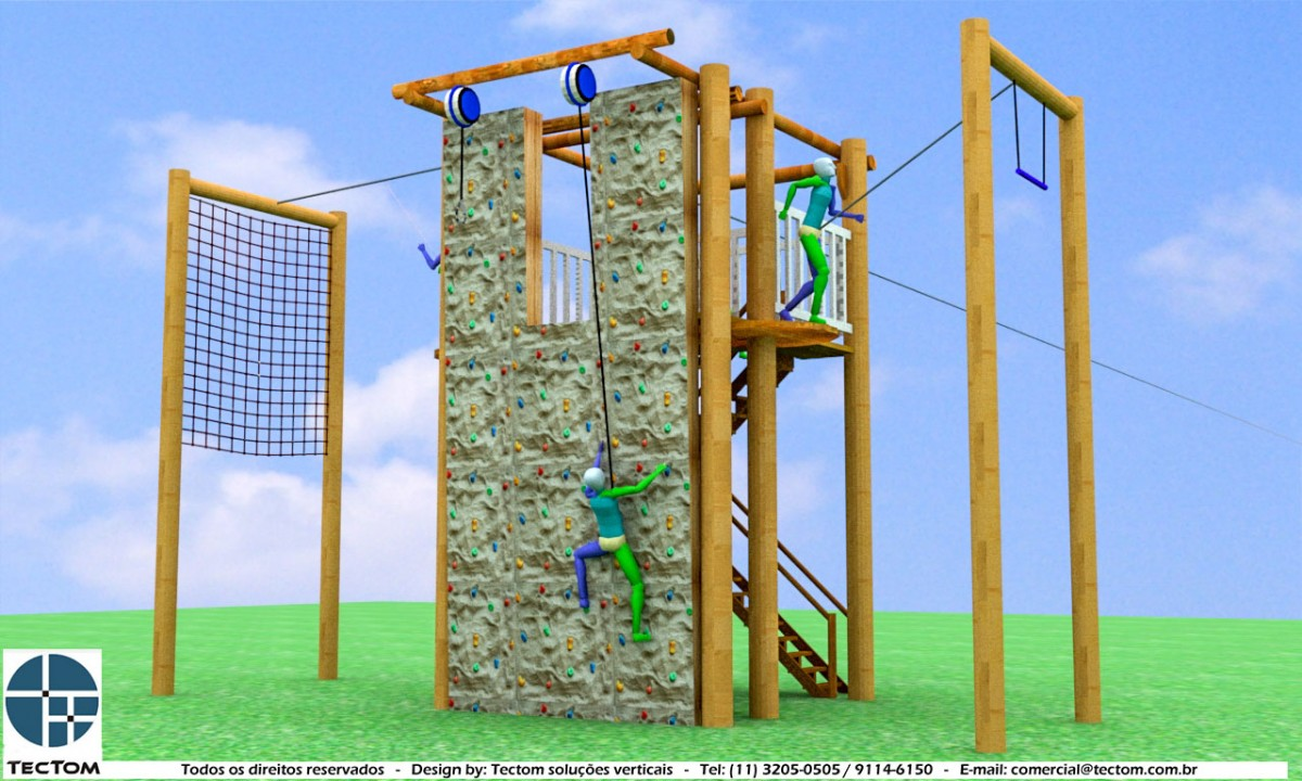 Projeto Torre Multifuncional:: Torre 6m para Treinamento Empresarial